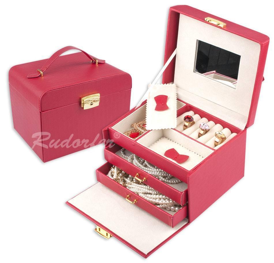 Caseta pt bijuterii model 7222 pe ROSU