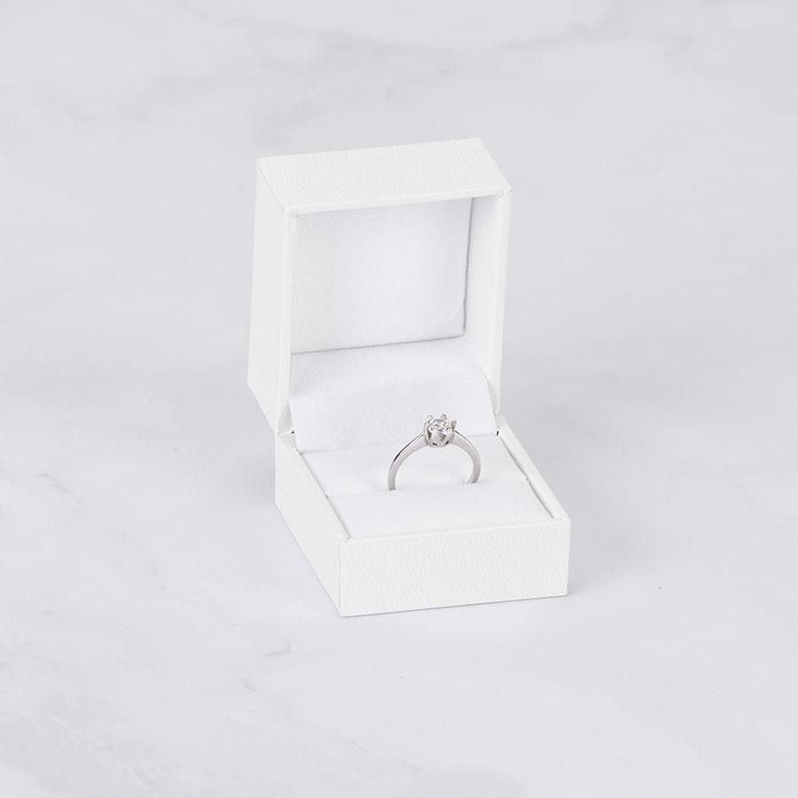 Cutie pt inel CLASSICO pe alb