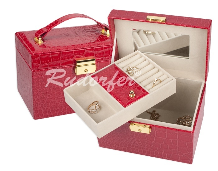 Caseta pt bijuterii model 7230 pe ROSU