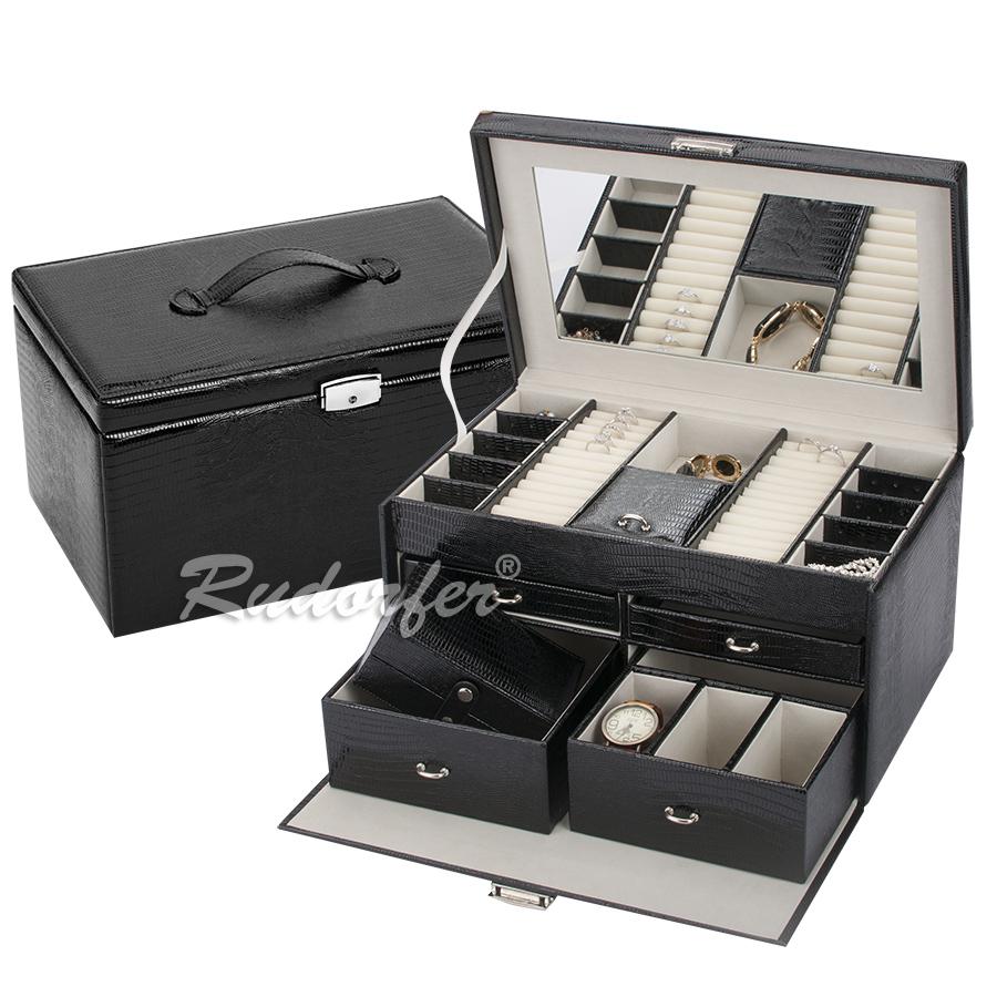 Caseta pt bijuterii model 7245 pe NEGRU