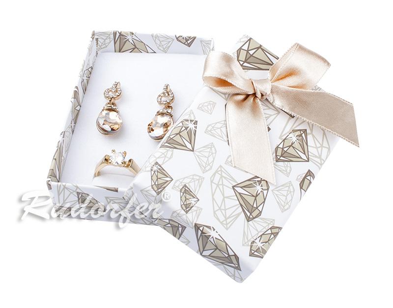 Cutie pt INEL si CERCEI din carton DIAMOND pe AURIU