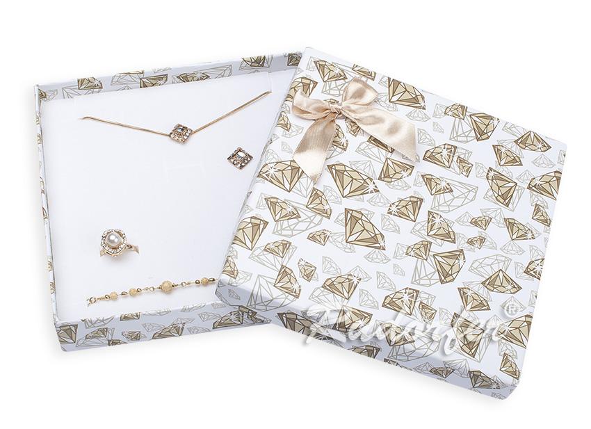 Cutie pt SET mare din carton DIAMOND pe AURIU