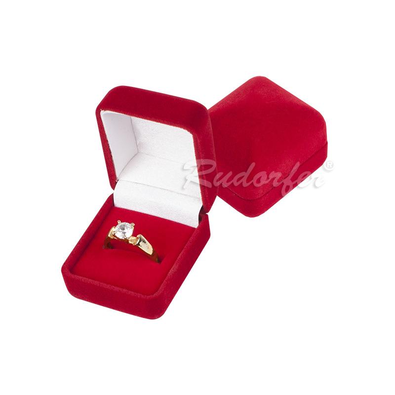 Cutie pt inel din catifea DIANA mic pe ROSU