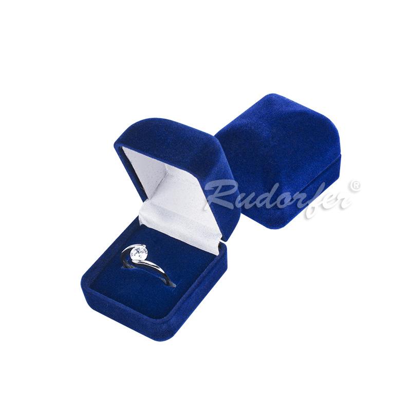 Cutie pt inel din catifea DIANA mic pe ALBASTRU