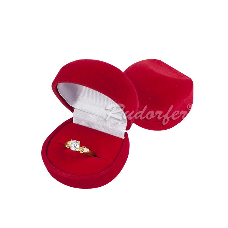 Cutie pt inel din catifea DIANA pe ROSU