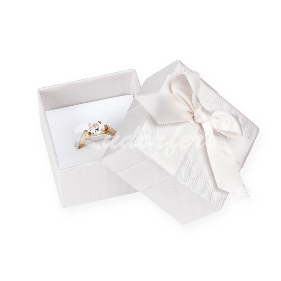 Cutie pentru inel din carton DREAM pe crem