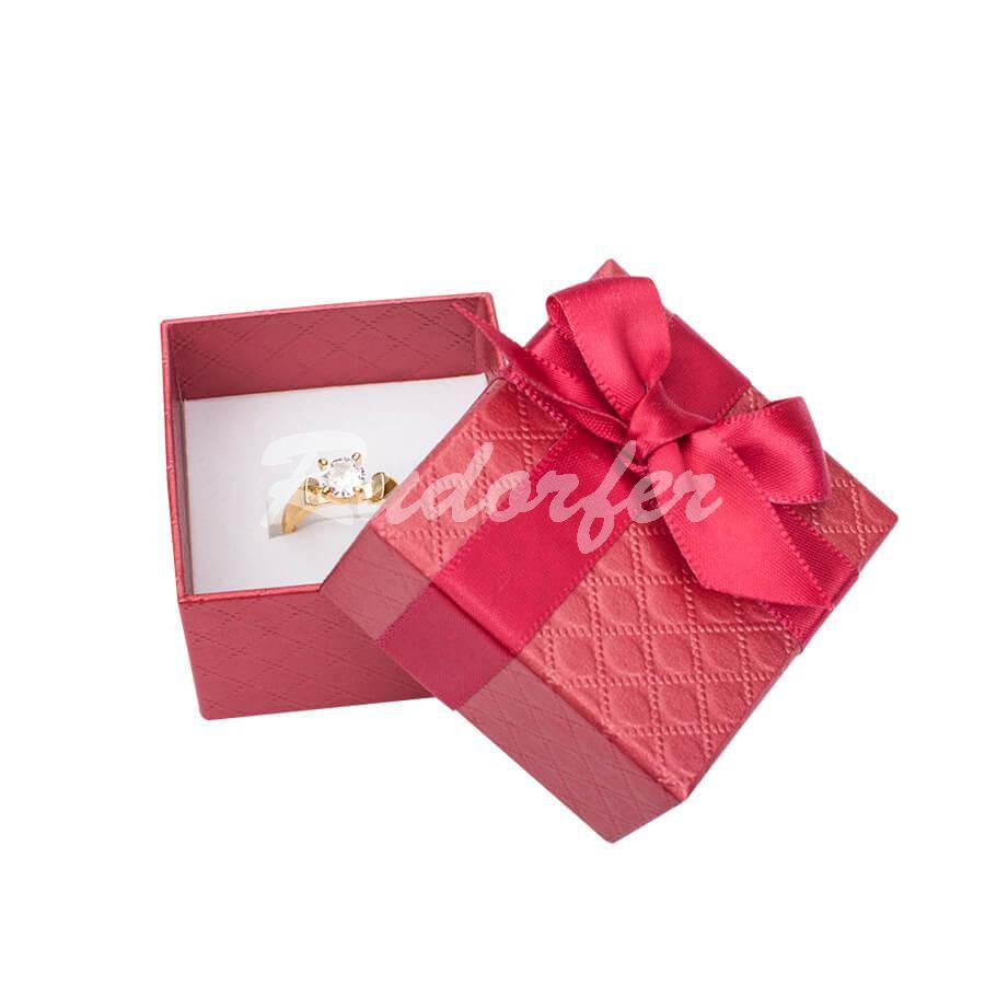 Cutie pentru inel din carton DREAM pe rosu