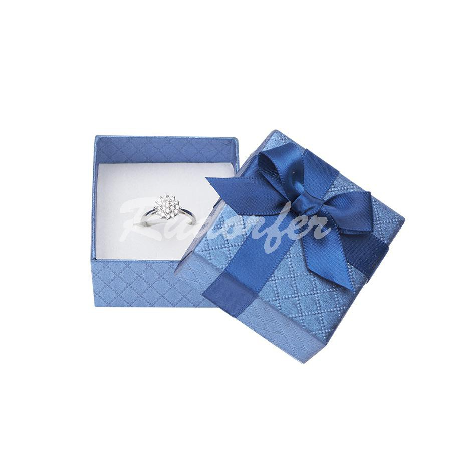 Cutie pentru inel din carton DREAM pe albastru