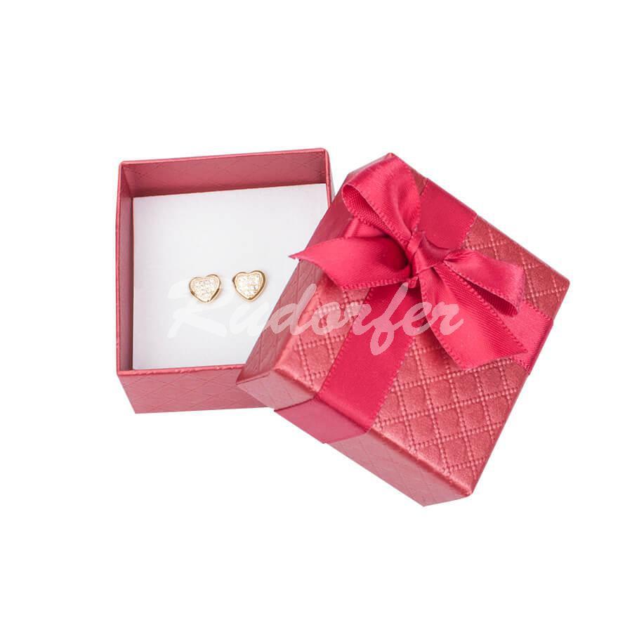 Cutie pentru cercei din carton DREAM pe rosu