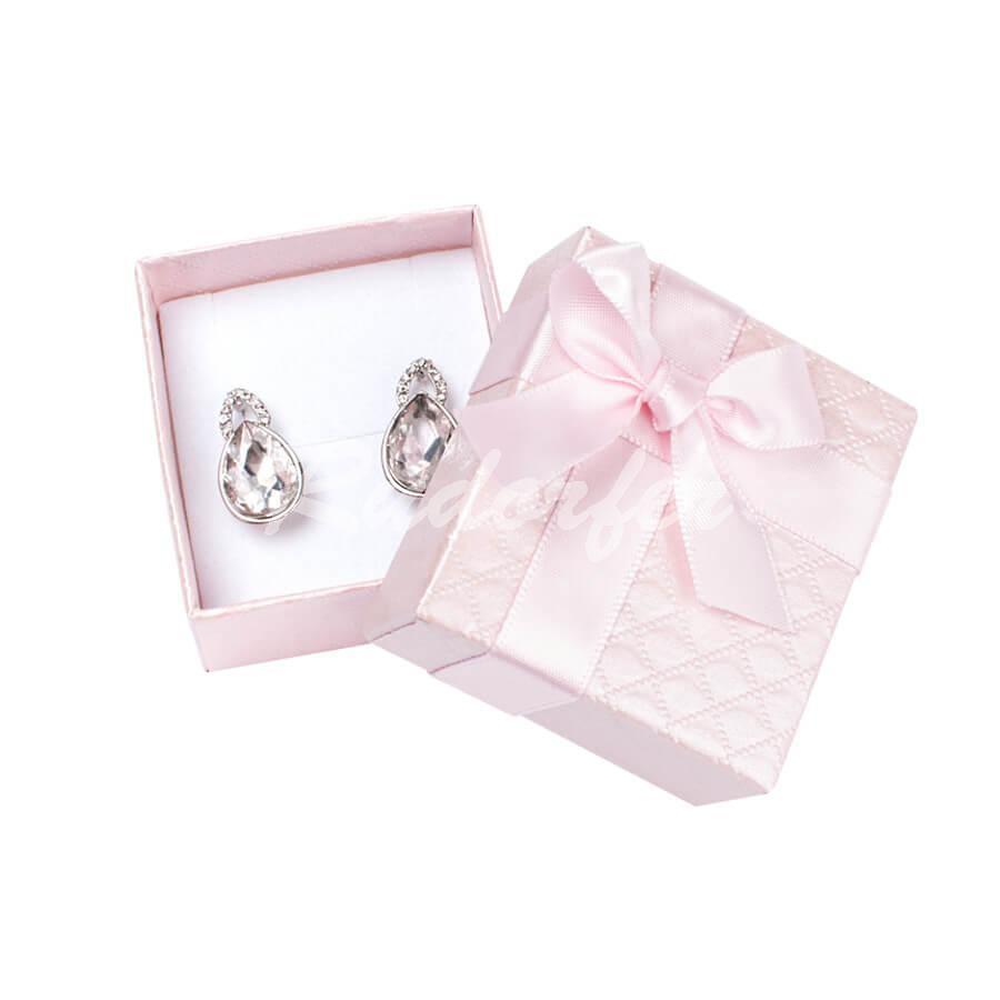 Cutie pentru cercei din carton DREAM pe roz