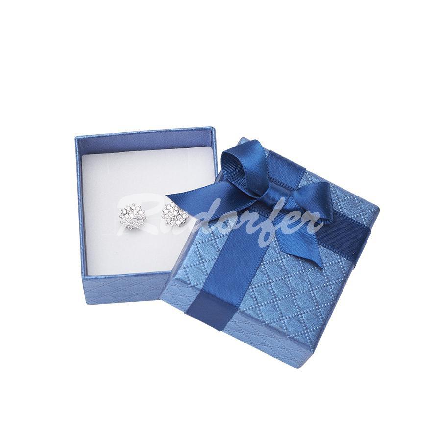 Cutie pentru cercei din carton DREAM pe albastru