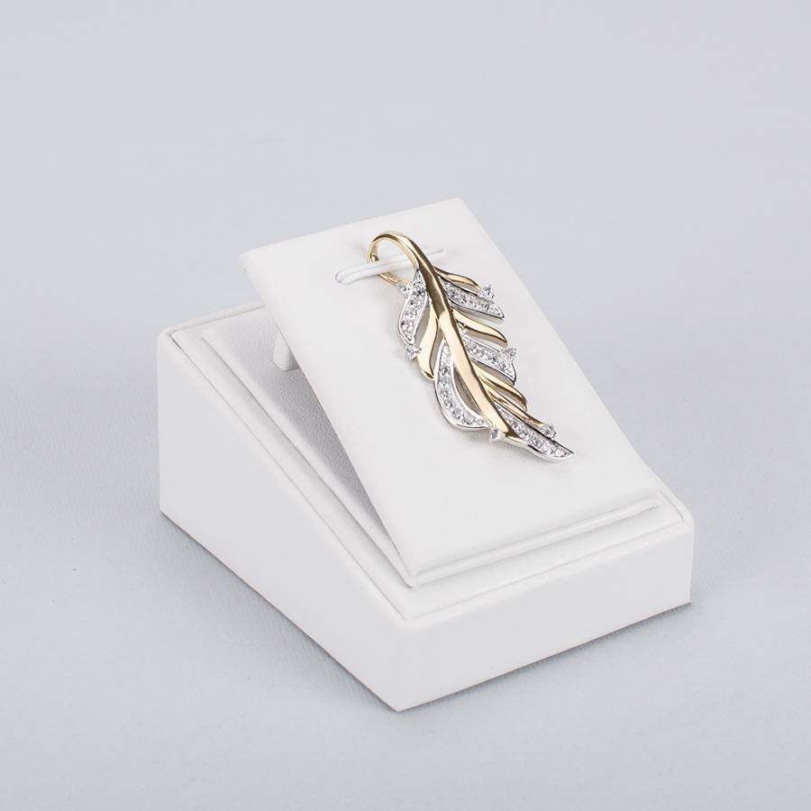Suport din piele ecologica pt PANDANTIV 215010 pe alb