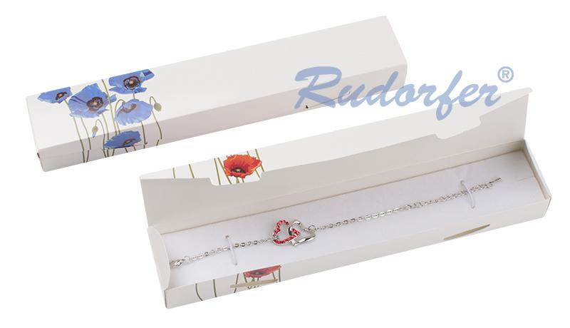 Cutie pt BRATARA din carton ECO MIX ROSU si ALBASTRU M7