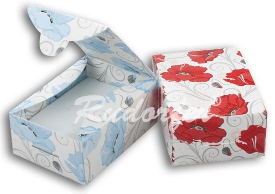 Cutie pt INEL si CERCEI din carton ECO MIX pe ALBASTRU si ROSU