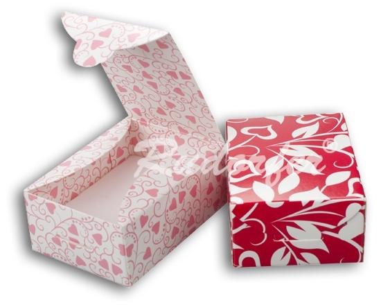 Cutie pt INEL si CERCEI din carton ECO MIX pe ROSU si Roz