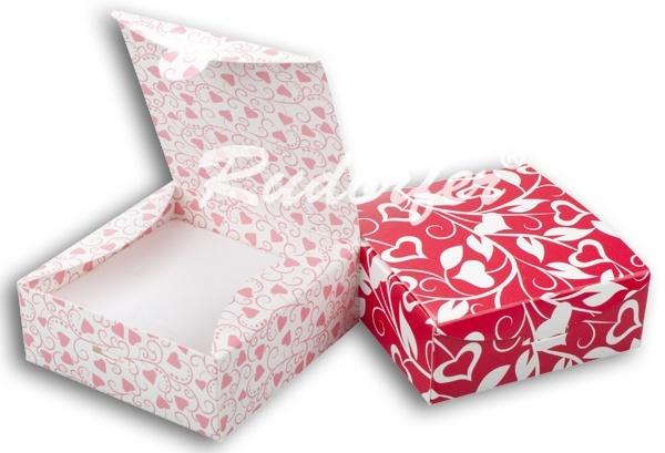 Cutie pt SET mic din carton ECO MIX pe Rosu si ROZ M4