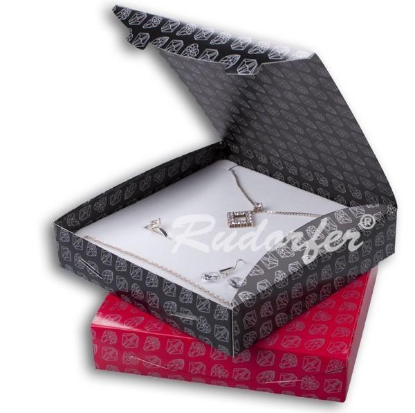 Cutie pt SET mare din carton ECO MIX pe NEGRU si ROSU