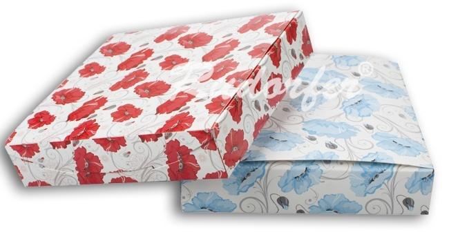 Cutie pt SET mare din carton ECO MIX pe ALBASTRU si ROSU