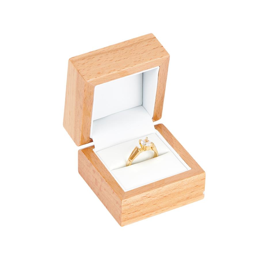 Cutie din lemn pentru INEL EXCELLENCE maro deschis