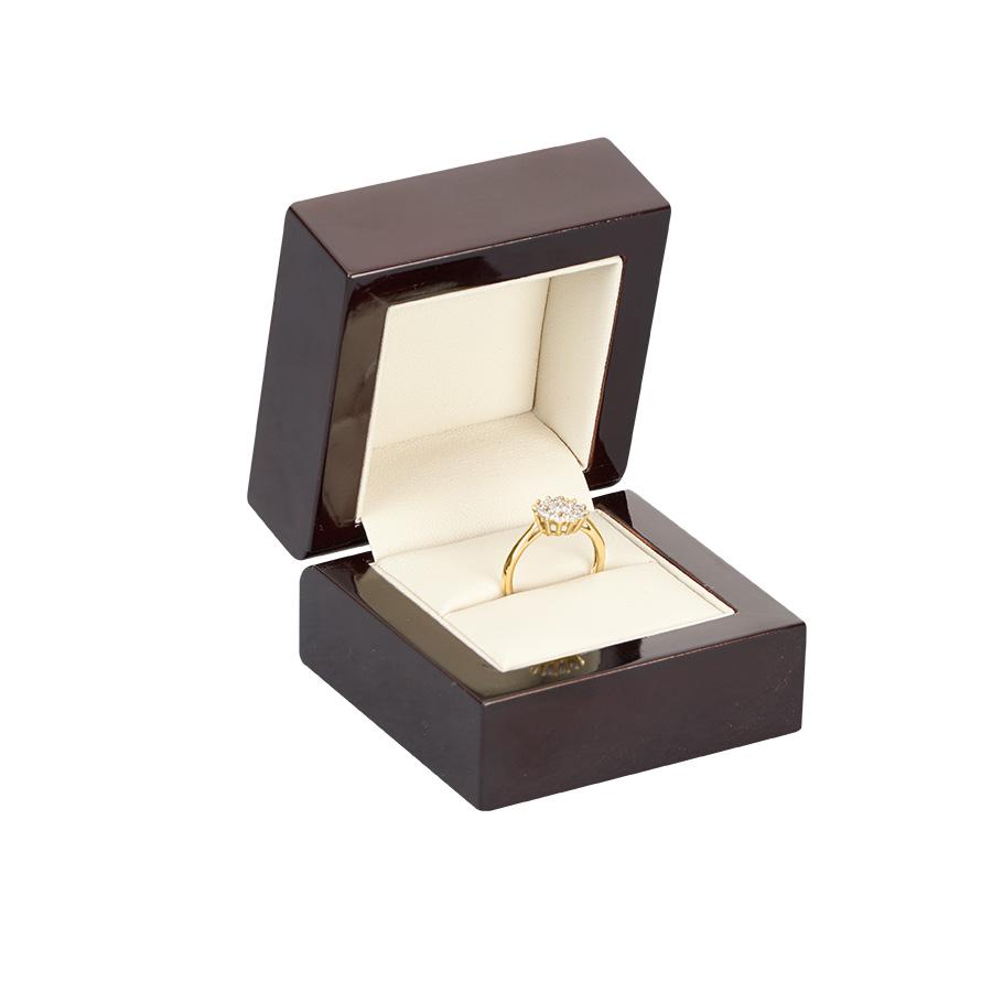 Cutie din lemn pentru INEL EXCELLENCE maro inchis