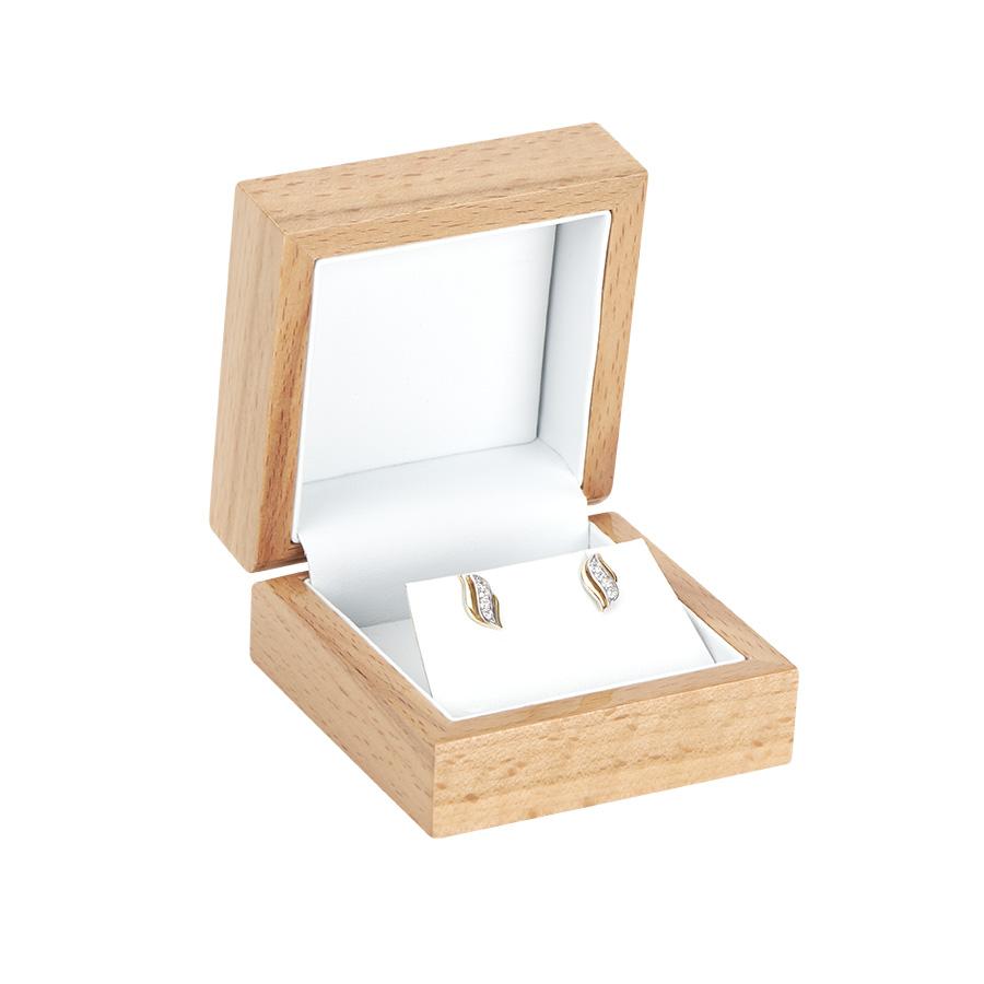 Cutie din lemn pentru CERCEI EXCELLENCE maro deschis