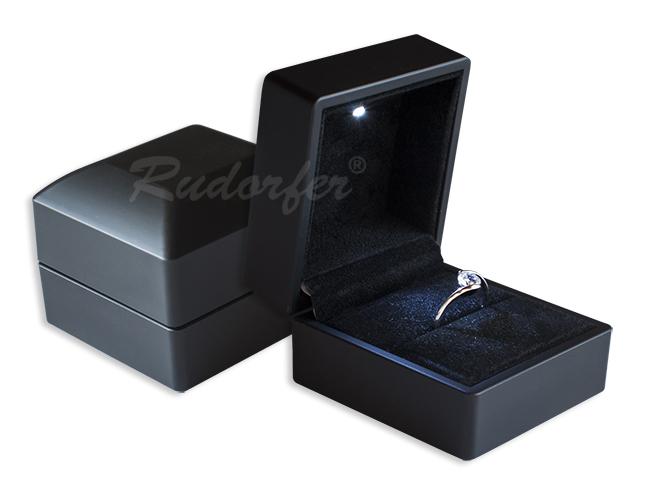 Cutie din plastic cu LED pt INEL pe negru