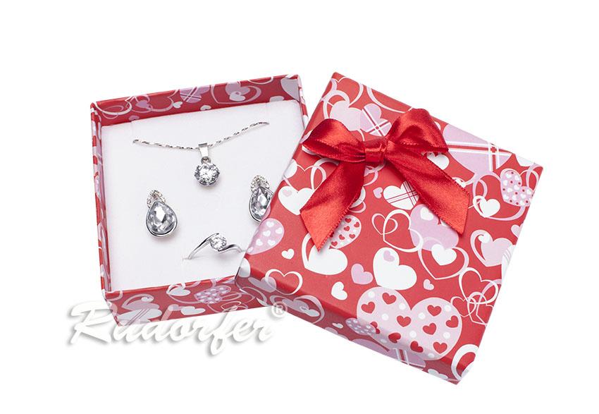 Cutie pt SET mic din carton LOVE pe ROSU