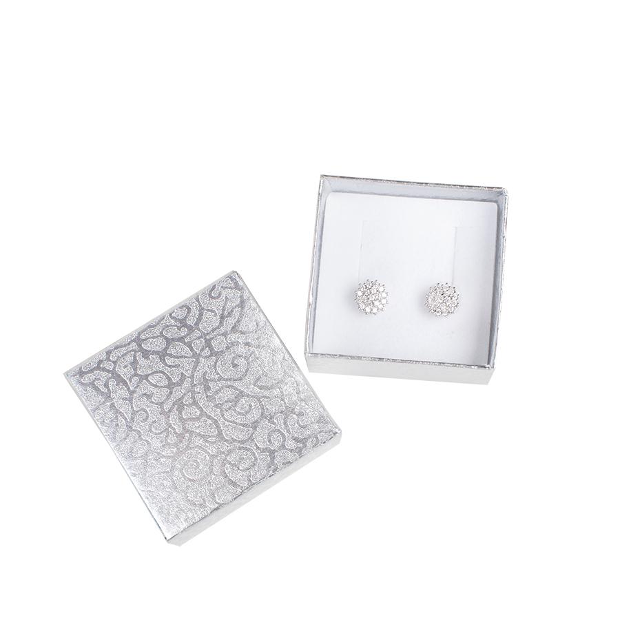 Cutie pt CERCEI din carton MOON pe Argintiu