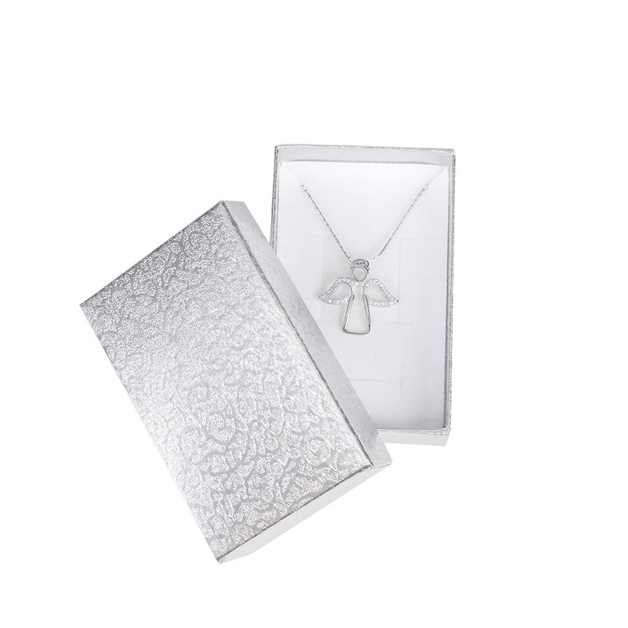 Cutie pt INEL si CERCEI din carton MOON pe Argintiu