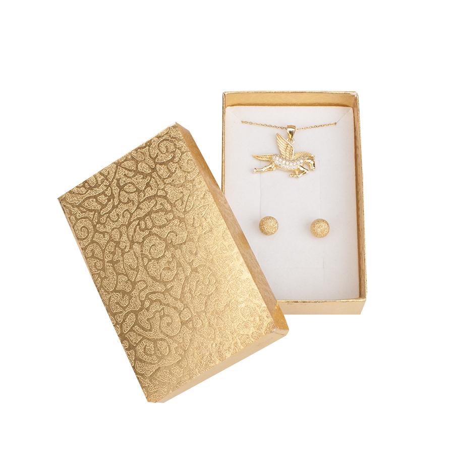 Cutie pt INEL si CERCEI din carton MOON pe Auriu