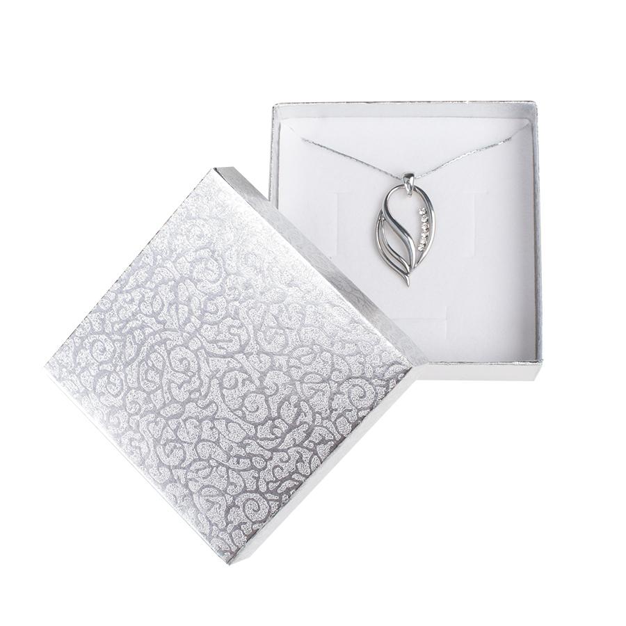 Cutie pt SET mic din carton MOON pe Argintiu