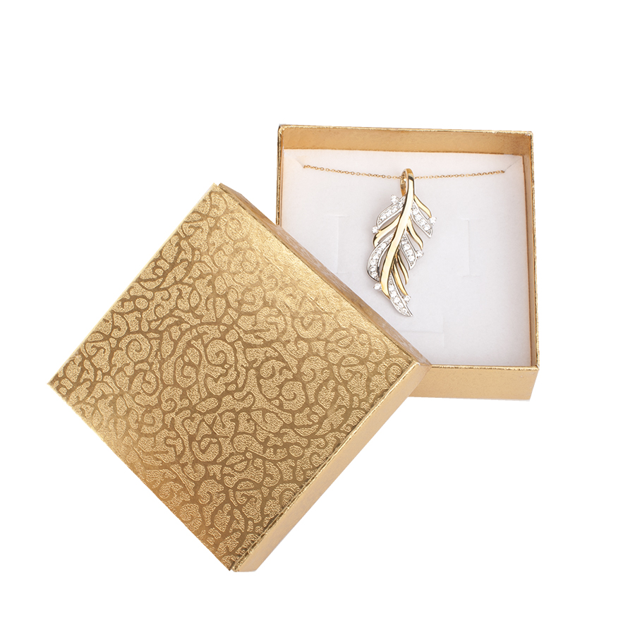 Cutie pt SET mic din carton MOON pe Auriu