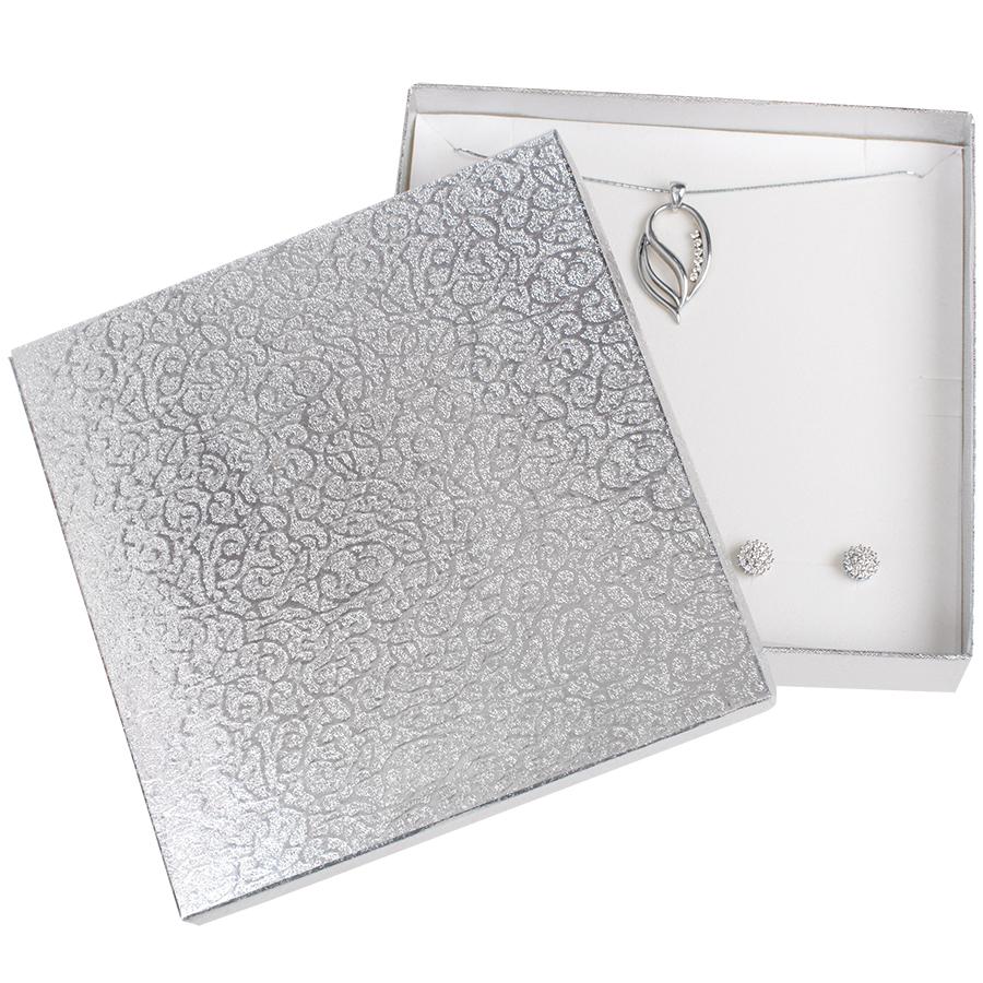 Cutie pt SET mare din carton MOON pe Argintiu