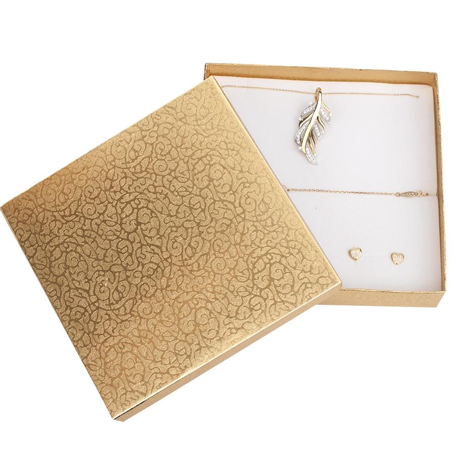Cutie pt SET mare din carton MOON pe Auriu