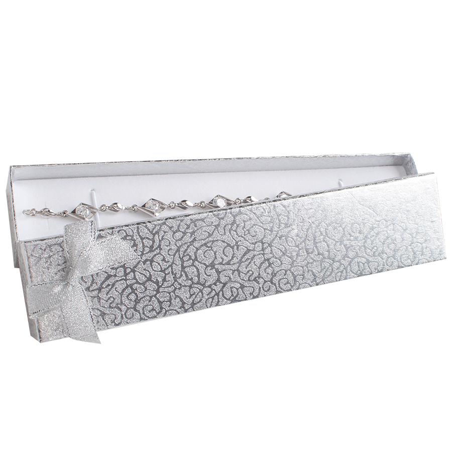 Cutie pt BRATARA din carton MOONLIGHT pe Argintiu