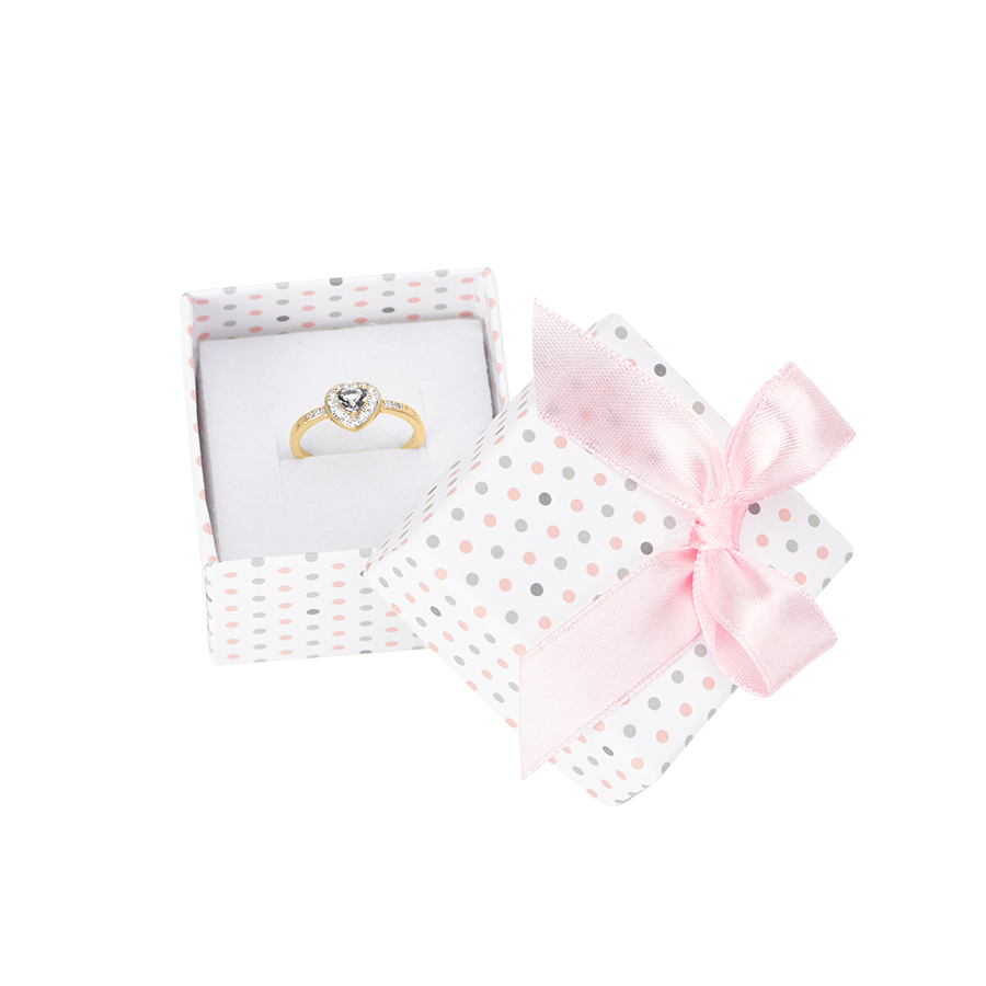 Cutie pt INEL din carton PASTELLOVE pe alb cu roz