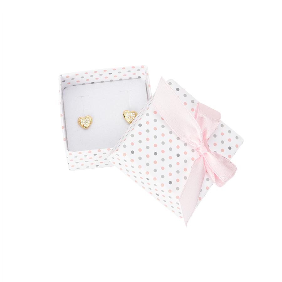 Cutie pt CERCEI din carton PASTELLOVE pe alb cu roz