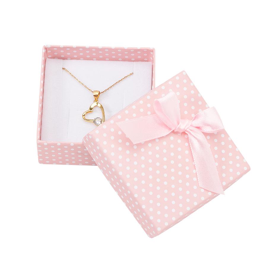 Cutie pt CERCEI si PANDANT din carton PASTELLOVE pe roz
