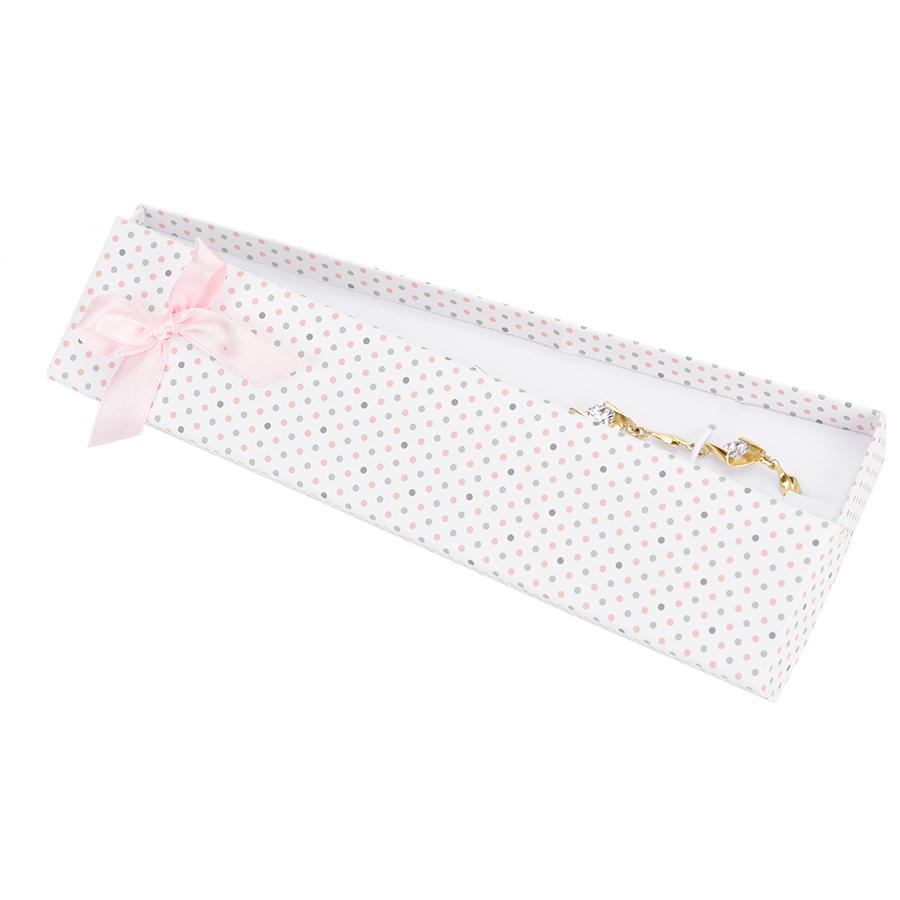 Cutie pt BRATARA din carton PASTELLOVE pe alb cu roz