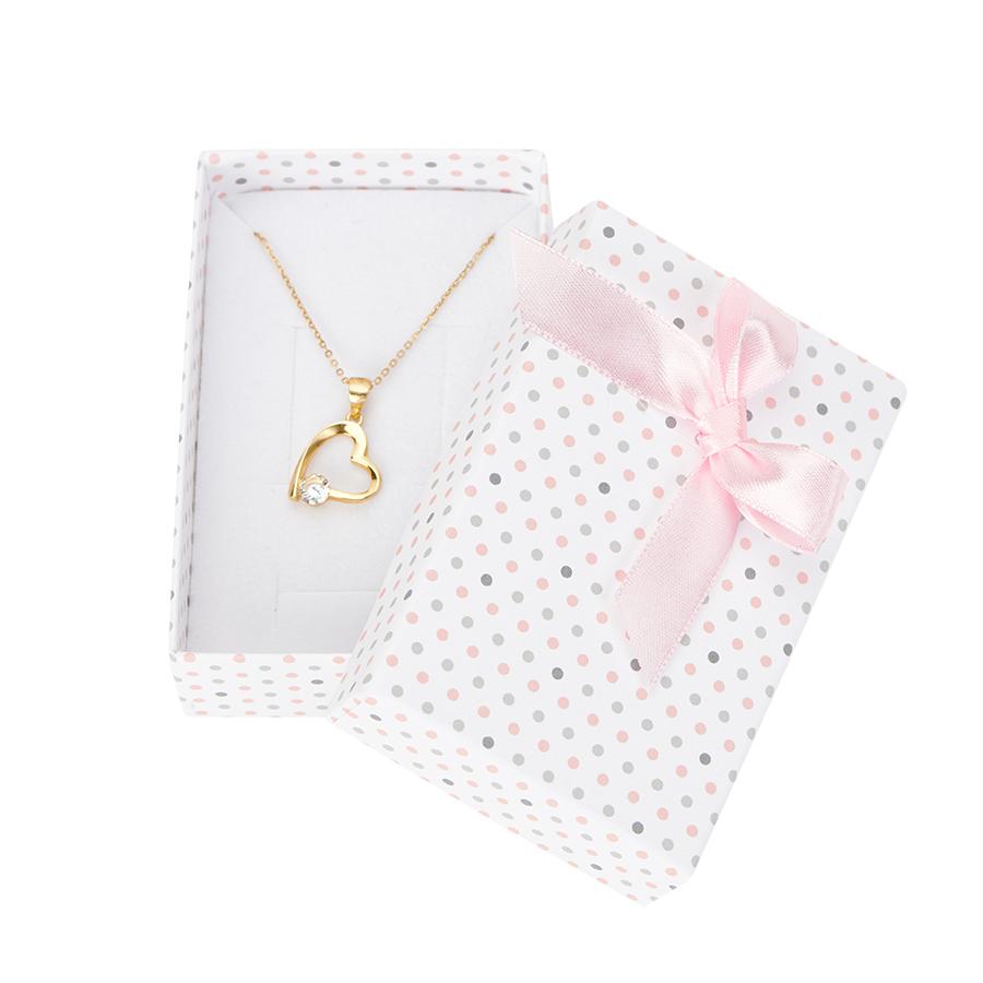 Cutie pt INEL si CERCEI din carton PASTELLOVE pe alb cu roz