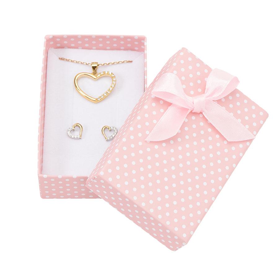 Cutie pt INEL si CERCEI din carton PASTELLOVE pe roz
