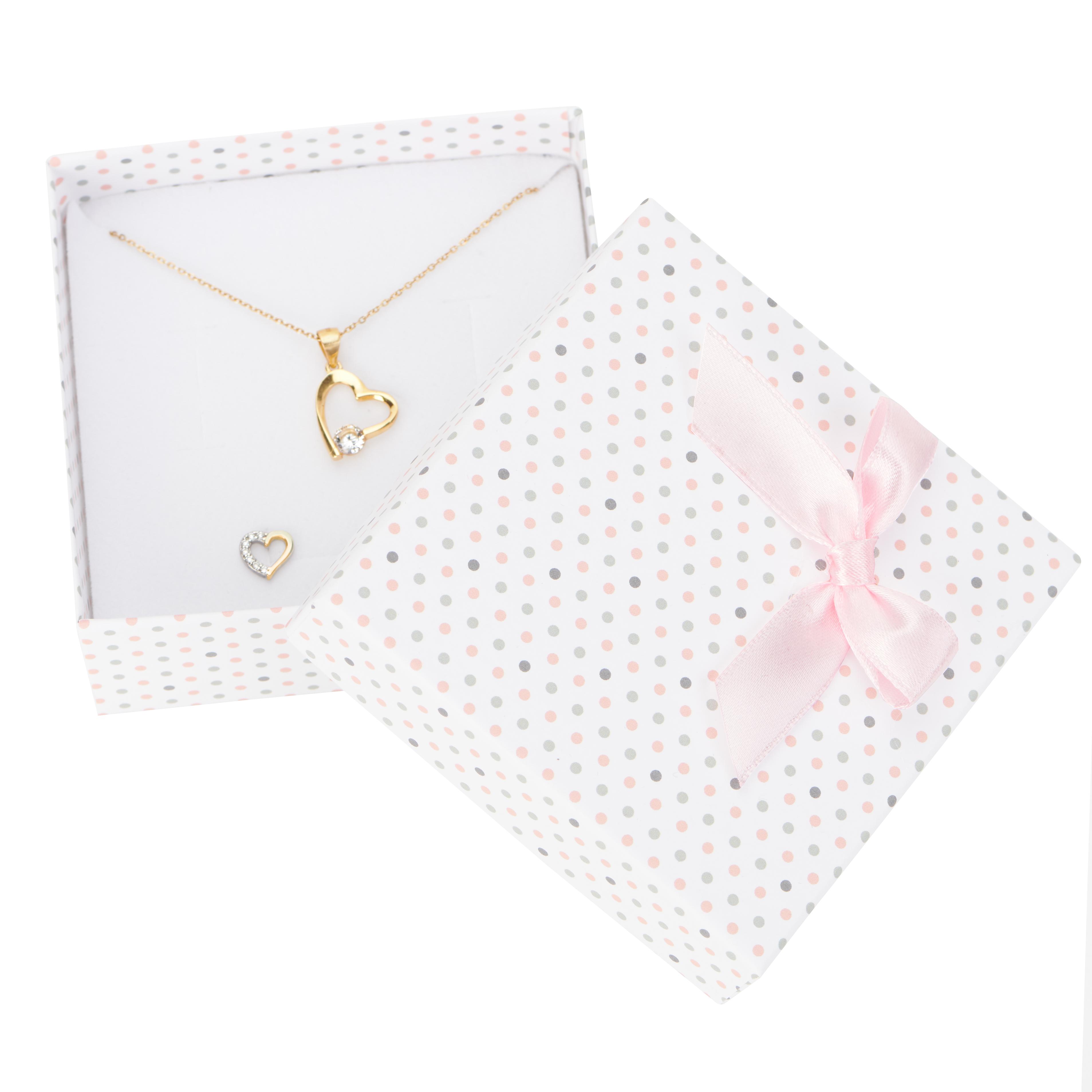 Cutie pt SET mic din carton PASTELLOVE pe alb cu roz