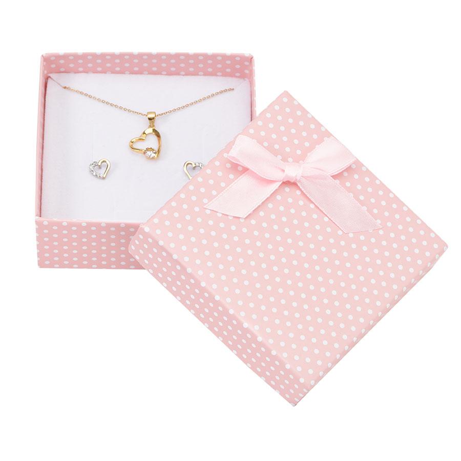 Cutie pt SET mic din carton PASTELLOVE pe roz