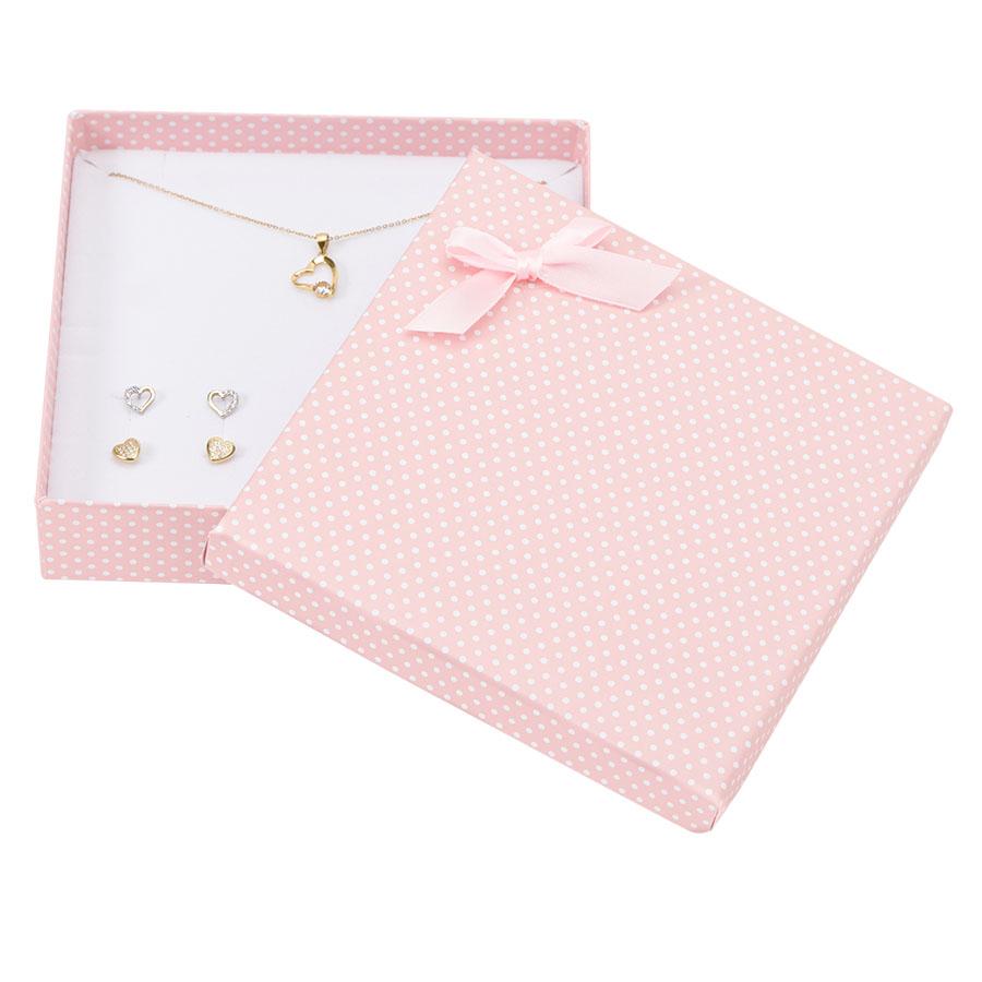 Cutie pt SET mare din carton PASTELLOVE pe roz