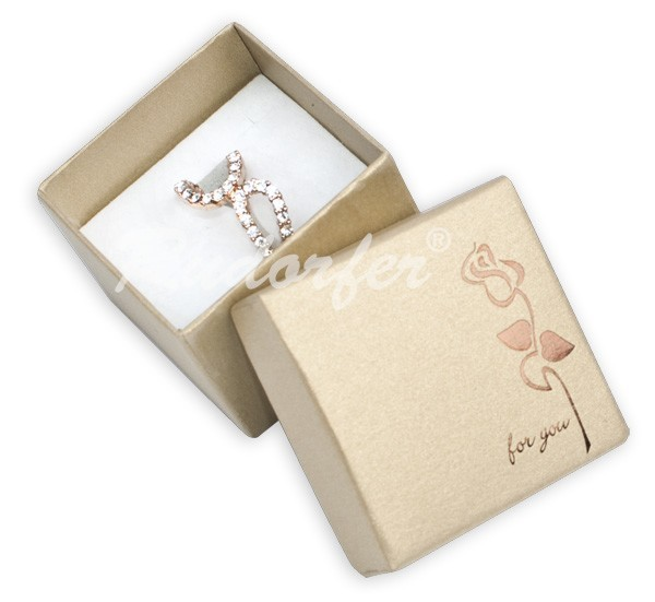 Cutie pt INEL din carton ROSE pe MARO deschis