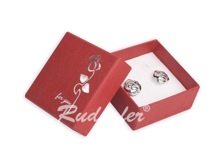 Cutie pt CERCEI din carton ROSE pe ROSU D4