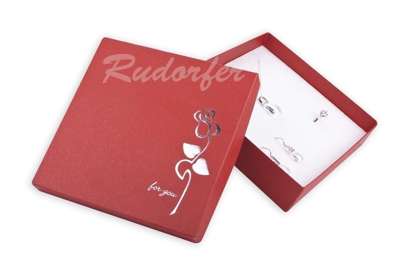Cutie pt SET mare din carton ROSE pe ROSU D4