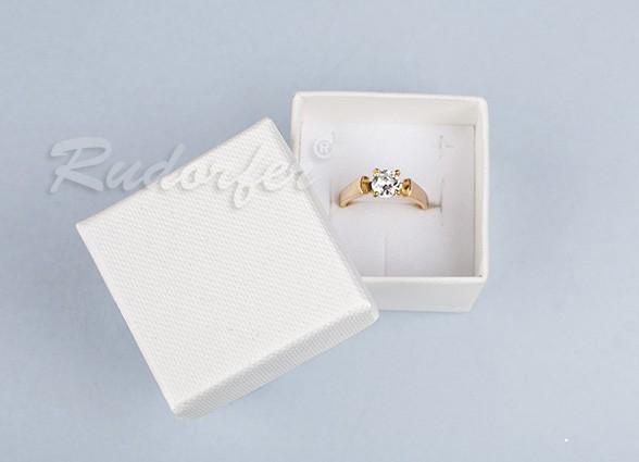 Cutie pentru inel din carton SOFIA pe crem