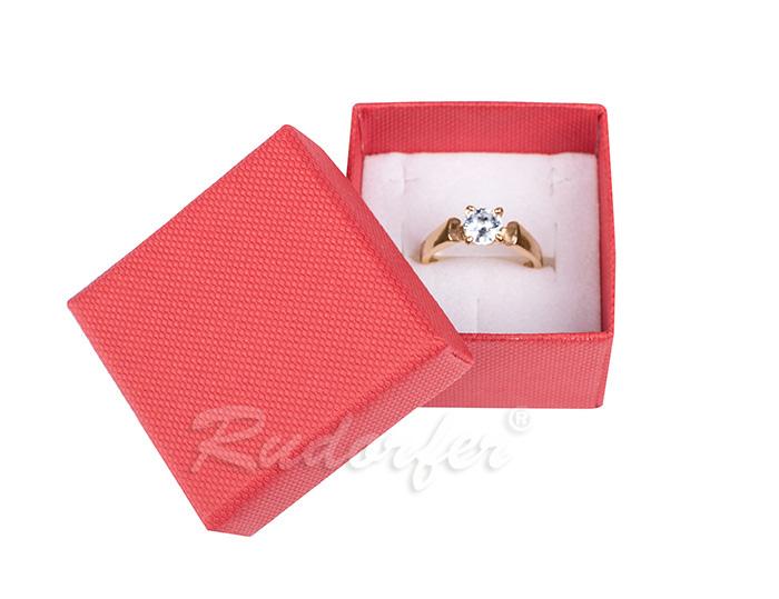 Cutie pentru inel din carton SOFIA pe rosu