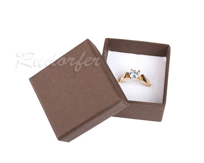 Cutie pentru inel din carton SOFIA pe maro